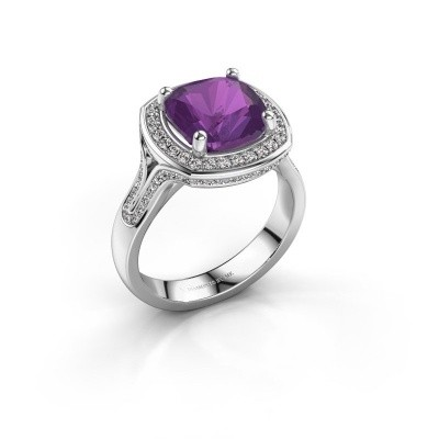 Ring Lili 925 zilver amethist 9 mm