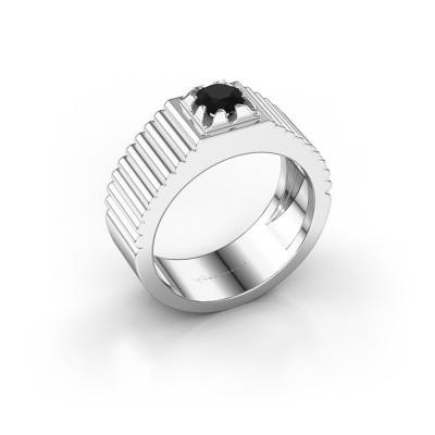 Pink ring Elias 925 zilver zwarte diamant 0.60 crt