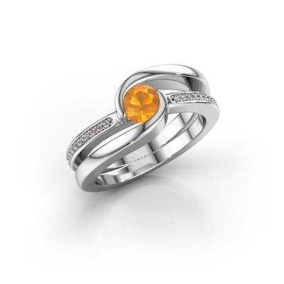 Foto van Ring Xenia 2 925 zilver citrien 5 mm