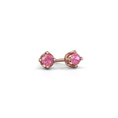 Foto van Oorknopjes Briana 375 rosé goud roze saffier 3.7 mm