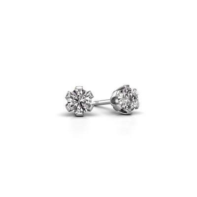 Foto van Oorstekers Julia 950 platina lab-grown diamant 0.25 crt