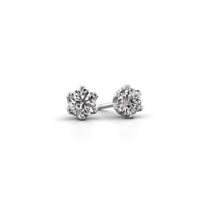 Foto van Oorstekers Fran 585 witgoud lab-grown diamant 0.40 crt