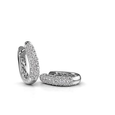 Foto van Creolen Danika 8.5 A 585 witgoud diamant 0.98 crt