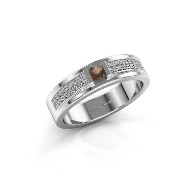 Picture of Ring Chanell 585 white gold smokey quartz 3 mm