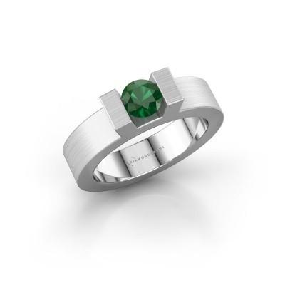 Foto van Ring Leena 1 925 zilver smaragd 5 mm