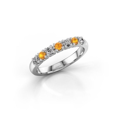 Foto van Belofte ring Rianne 7 585 witgoud citrien 2.4 mm
