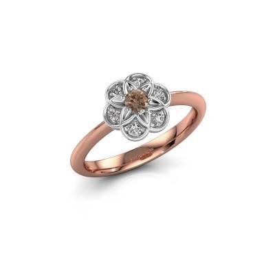 Verlobungsring Uma 585 Roségold Braun Diamant 0.10 crt