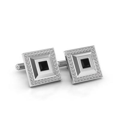 Foto van Manchetknopen Joris 585 witgoud zwarte diamant 1.62 crt