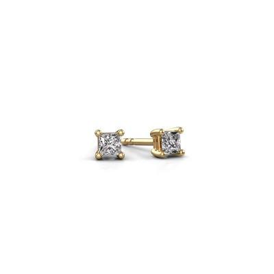 Oorstekers Sam square 375 goud lab-grown diamant 0.40 crt