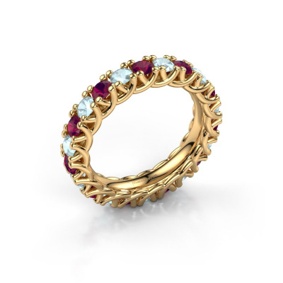Bild von Ring Fenna 585 Gold Rhodolit 3 mm