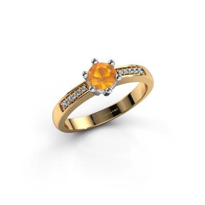 Verlovingsring Luna 2 585 goud citrien 5 mm