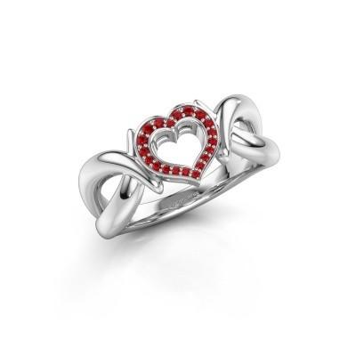 Ring Earlie 1 925 zilver robijn 1.1 mm