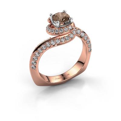 Engagement ring Sienna 585 rose gold brown diamond 1.221 crt