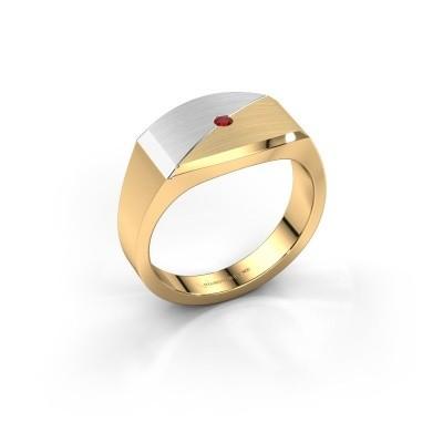 Foto van Heren ring Joe 5 585 goud robijn 2 mm