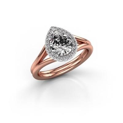 Foto van Verlovingsring Elenore 585 rosé goud diamant 1.097 crt