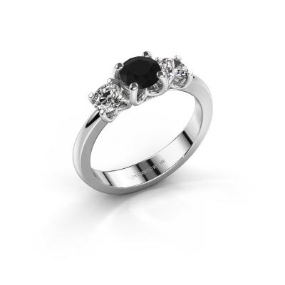 Verlobungsring Detra 585 Weißgold Schwarz Diamant 1.10 crt
