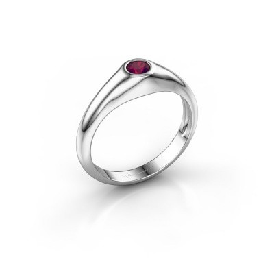 Picture of Pinky ring Thorben 375 white gold rhodolite 4 mm
