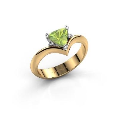 Ring Arlette 585 goud peridoot 7 mm