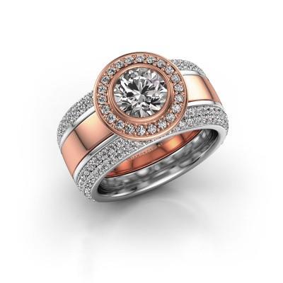 Foto van Ring Roxie 585 rosé goud diamant 2.06 crt