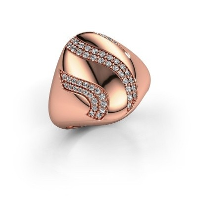 Ring Vilma 375 rosé goud zirkonia 1.2 mm