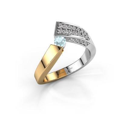 Ring Evie 585 gold aquamarine 3.4 mm