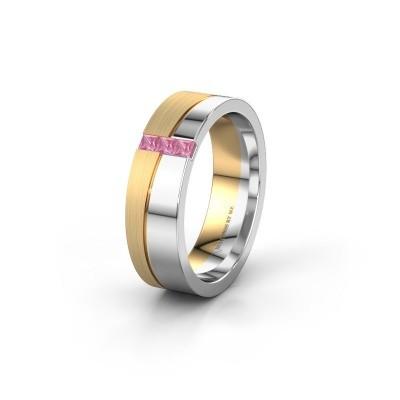 Trauring WH0906L16A 585 Weißgold Pink Saphir ±6x1.7 mm