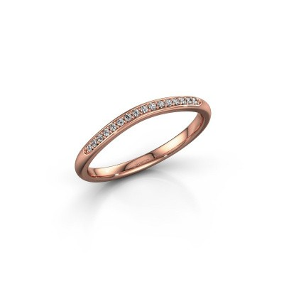 Ring SR20A2H 375 rose gold diamond 0.08 crt