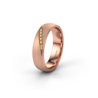 Wedding ring WH2150L25AM 585 rose gold yellow sapphire ±5x1.7 mm