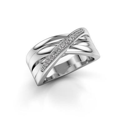 Ring Renna 2 585 white gold zirconia 1 mm