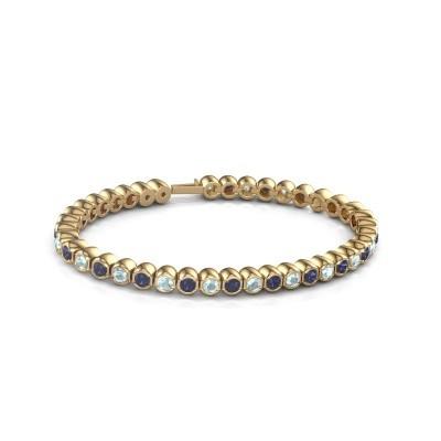 Tennisarmband Mellisa 375 goud saffier 3.5 mm