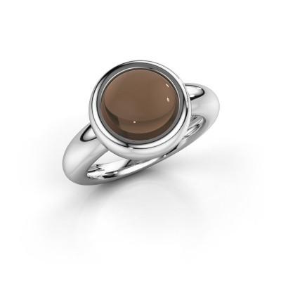 Foto van Ring Jenae 925 zilver rookkwarts 10 mm