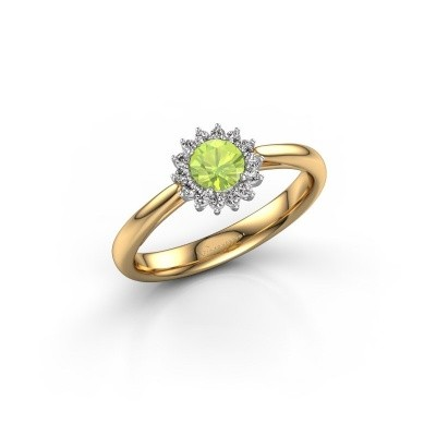 Engagement ring Tilly RND 1 585 gold peridot 4.2 mm