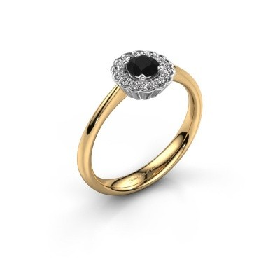 Verlovingsring Debi 585 goud zwarte diamant 0.50 crt