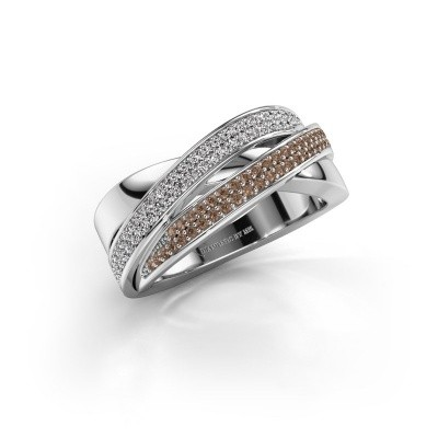 Foto van Ring Myra 585 witgoud bruine diamant 0.50 crt