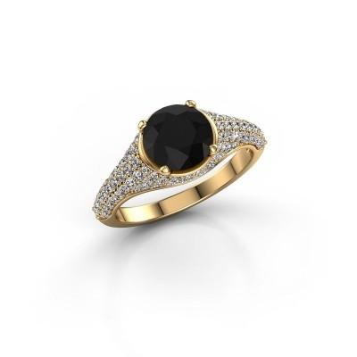 Bild von Ring Lovella 375 Gold Schwarz Diamant 2.189 crt