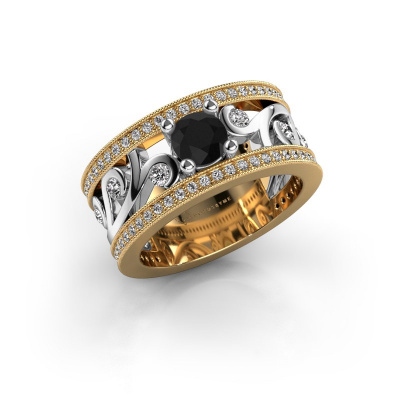 Photo de Bague Sanne 585 or jaune diamant noir 1.23 crt
