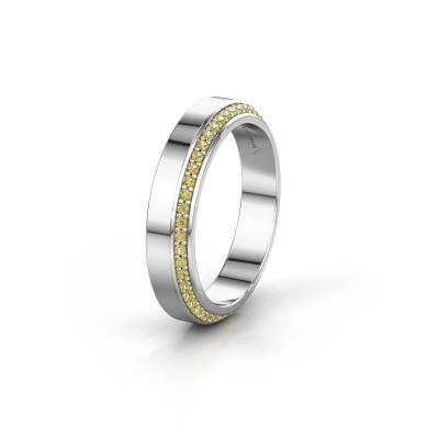 Trouwring WH2106L14C 925 zilver gele saffier ±4x2.2 mm