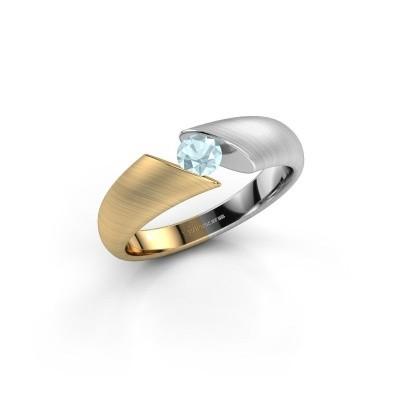 Foto van Verlovingsring Hojalien 1 585 goud aquamarijn 4 mm