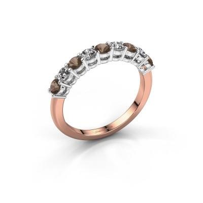 Foto van Belofte ring Michelle 9 585 rosé goud rookkwarts 2.7 mm