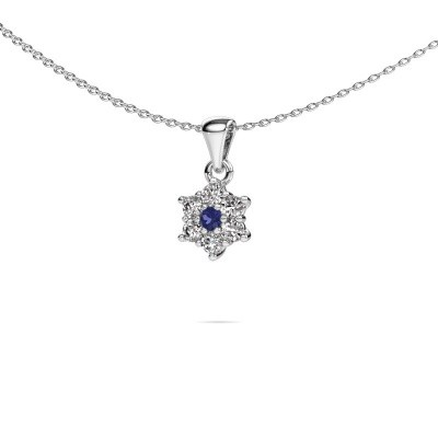 Ketting Chantal 585 witgoud saffier 2.4 mm