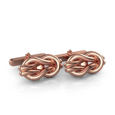 Picture of Cufflinks Knot 375 rose gold