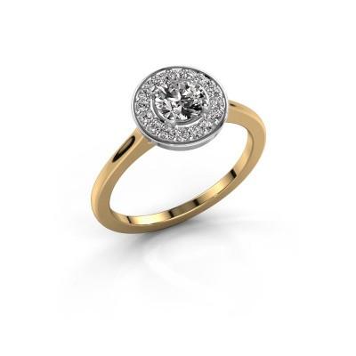 Ring Agaat 1 585 goud diamant 0.66 crt
