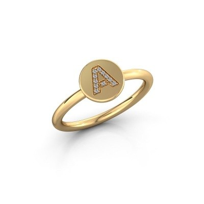 Picture of Ring Initial ring 050 585 gold