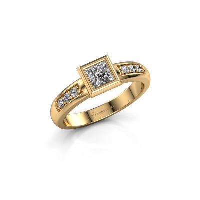 Stacking ring Lieke Square 585 gold diamond 0.52 crt