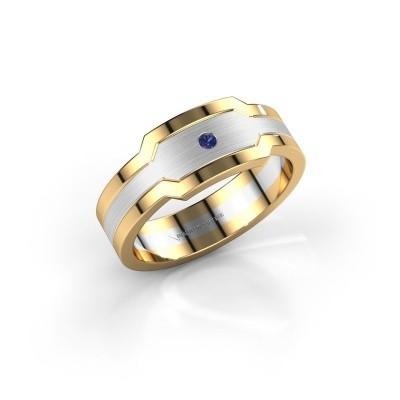 Foto van Heren ring Guido 585 witgoud saffier 2 mm