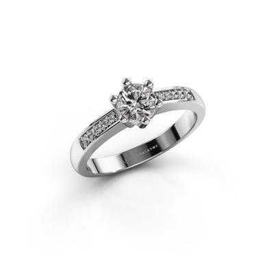Verlovingsring Luna 2 925 zilver diamant 0.40 crt