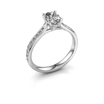 Picture of Engagement ring Mignon ovl 2 585 white gold lab grown diamond 0.80 crt