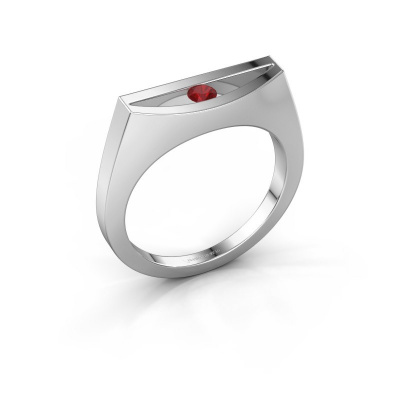 Ring Milou 925 silver ruby 3 mm