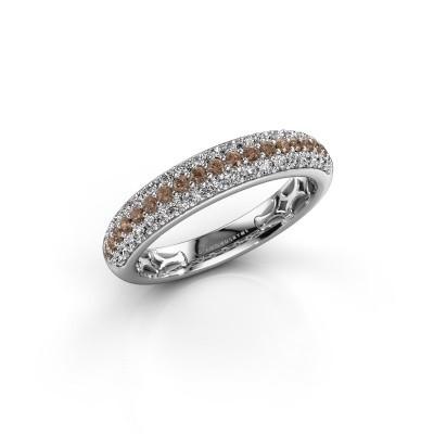Foto van Ring Emely 4 950 platina bruine diamant 0.626 crt