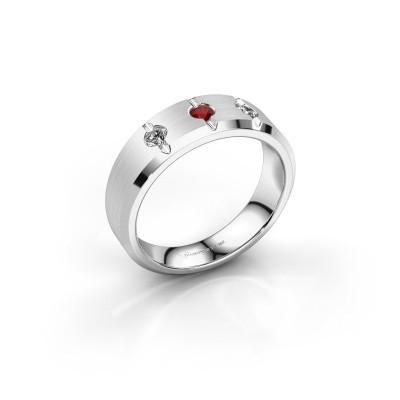 Foto van Heren ring Remco 925 zilver robijn 2.7 mm